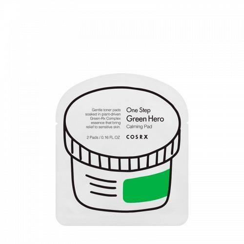 Диски Успокаивающие С Экстрактом Чайного Дерева Cosrx One Step Green hero Calming Pad 2pcs