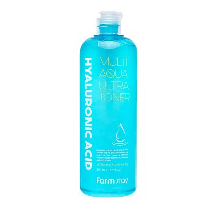 Тонер для лица супер увлажняющий с гиалуроновой кислотой FarmStay Hyaluronic Acid Multi Aqua Ultra Toner 500ml