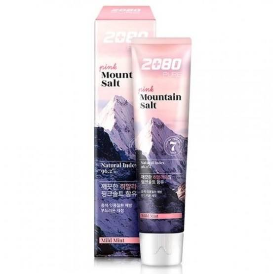 Зубная Паста Укрепляющая С Розовой Гималайской Солью Aekyung 2080 Pink Mountain Salt Toothpaste 120мл (розовая упаковка)