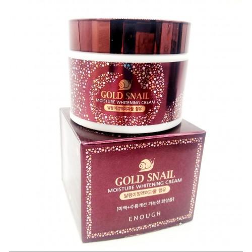 Крем осветляющий с улиточным муцином Enough Gold Snail Moisture Whitening Cream 50ml