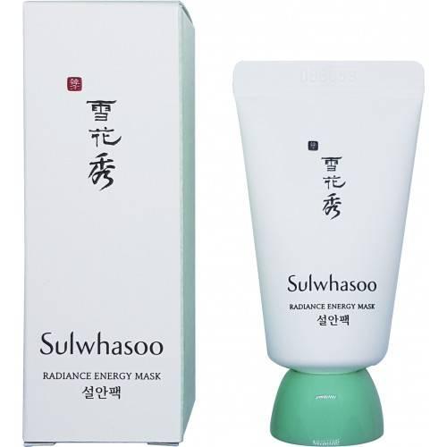 Маска ночная энергетическая для лица с белым нефритом Sulwhasoo Radiance Energy Mask 15ml