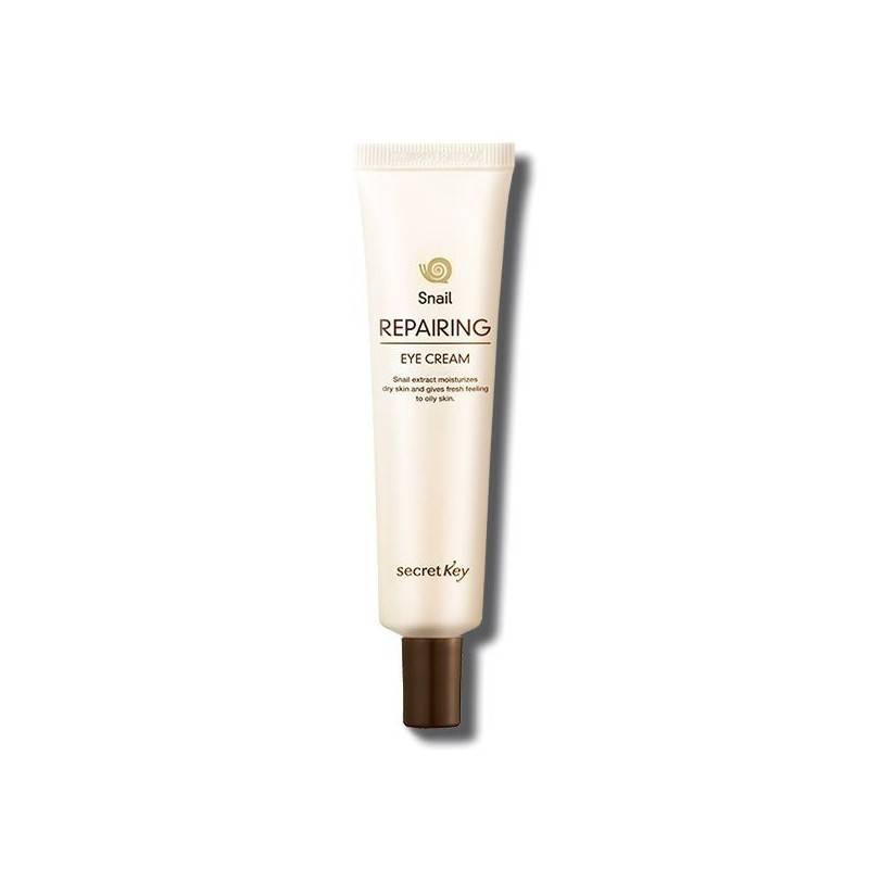 Увлажняющий крем для век с улиточным экстрактом и бета-глюканом SecretKey Snail Repairing Eye Cream 30g