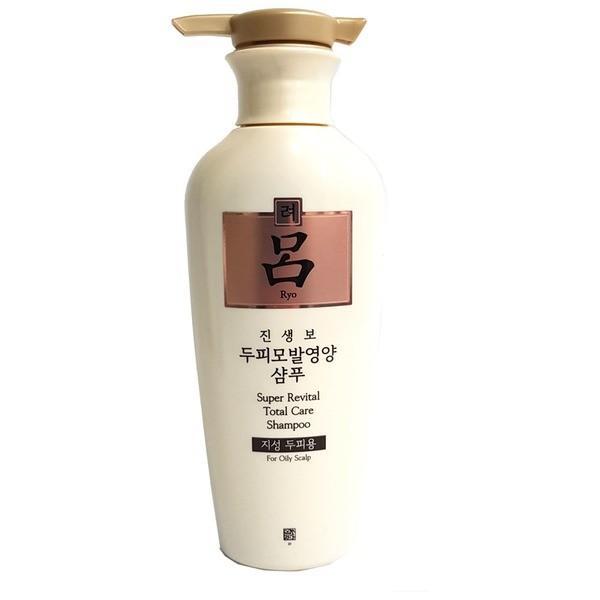 Шампунь антивозрастной с экстрактом женьшеня для волос Ryo SUPER REVITAL TOTAL CARE SHAMPOO FOR OILY HAIR 400ml