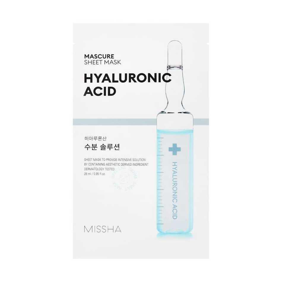 Маска Для Интенсивного и Глубоко Увлажнения С Гиалуроновой Кислотой MISSHA Mascure Hydra Solution Sheet Mask Hyaluronic Acid 27ml