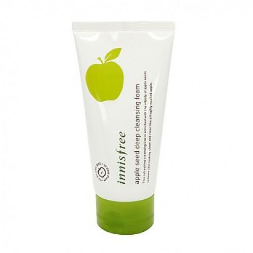 Освежающая пенка для умывания с экстрактом зеленого яблока Innisfree Apple Seed Cleansing Foam 150ml