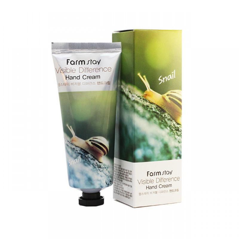 Крем для рук питательный с муцином улитки FarmStay Visible Difference Snail Hand Cream 50ml