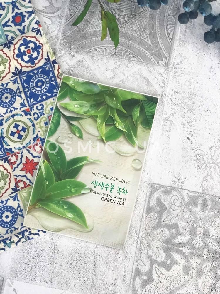 Тканевая Маска С Зеленым Чаем Nature Republic Real Nature Green Tea Mask Sheet 23ml