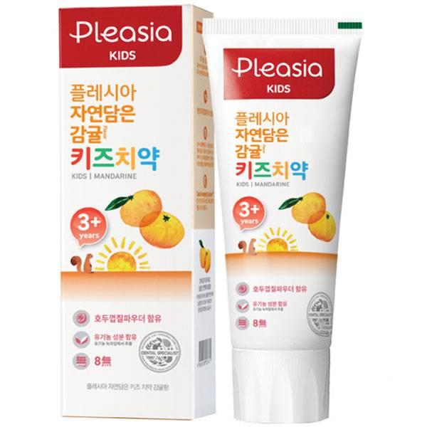 Детская зубная паста со вкусом мандарина Pleasia Kids Toothpaste Mandarine 80ml
