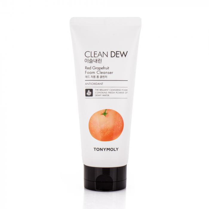 Пенка очищающая для умывания с экстрактом грейпфрута для лица Tony Moly Clean Dew Foam Cleanser Grapefruit 180ml