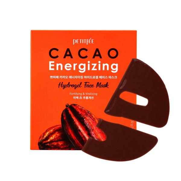 Маска гидрогелевая тонизирующая с экстрактом какао для лица PETITFEE Cacao Energizing Hydrogel Face Mask 32g