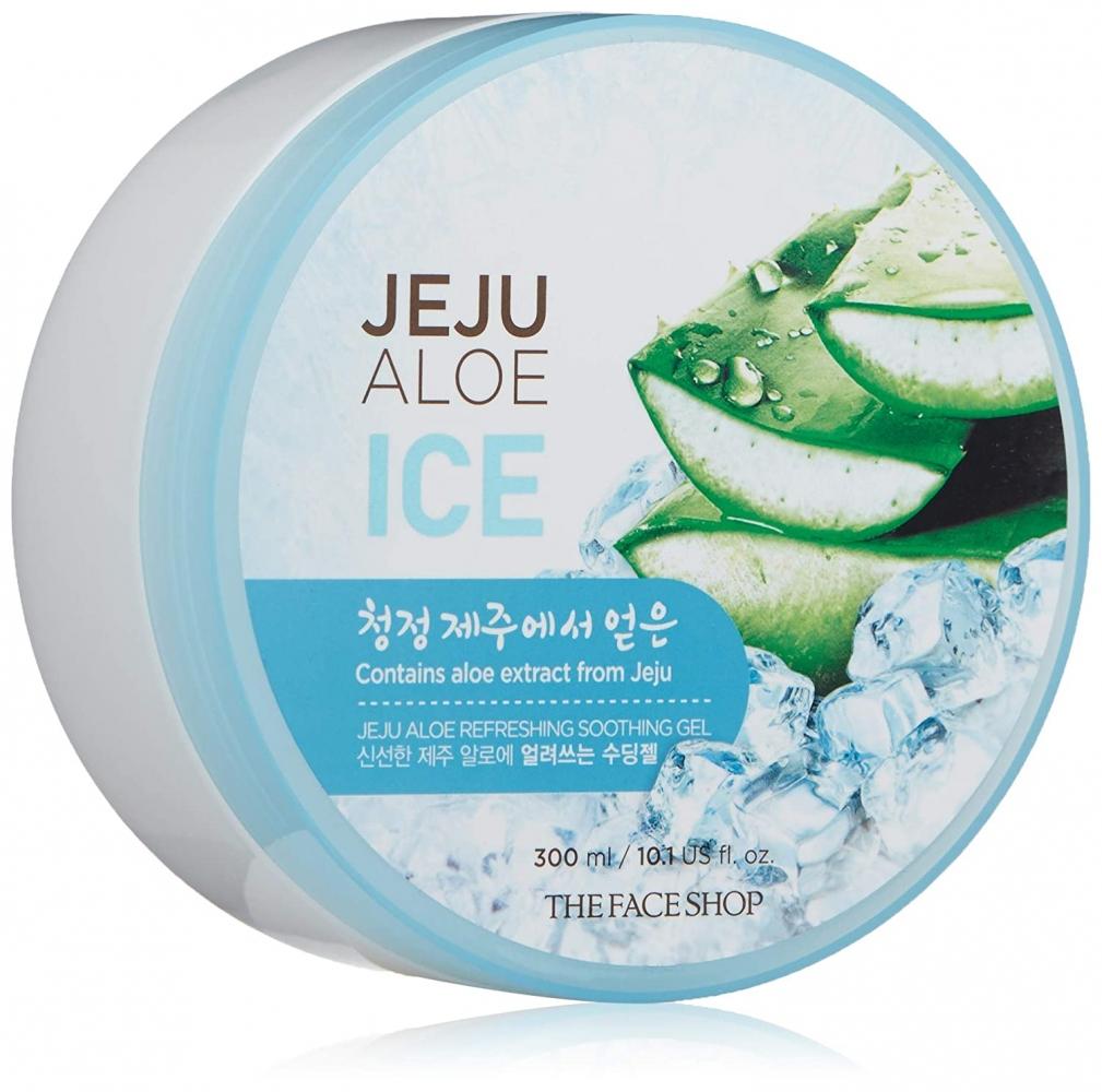 Гель освежающий с алоэ для лица и тела The Face Shop Jeju Aloe Refreshing Soothing Gel 300ml (ICE))