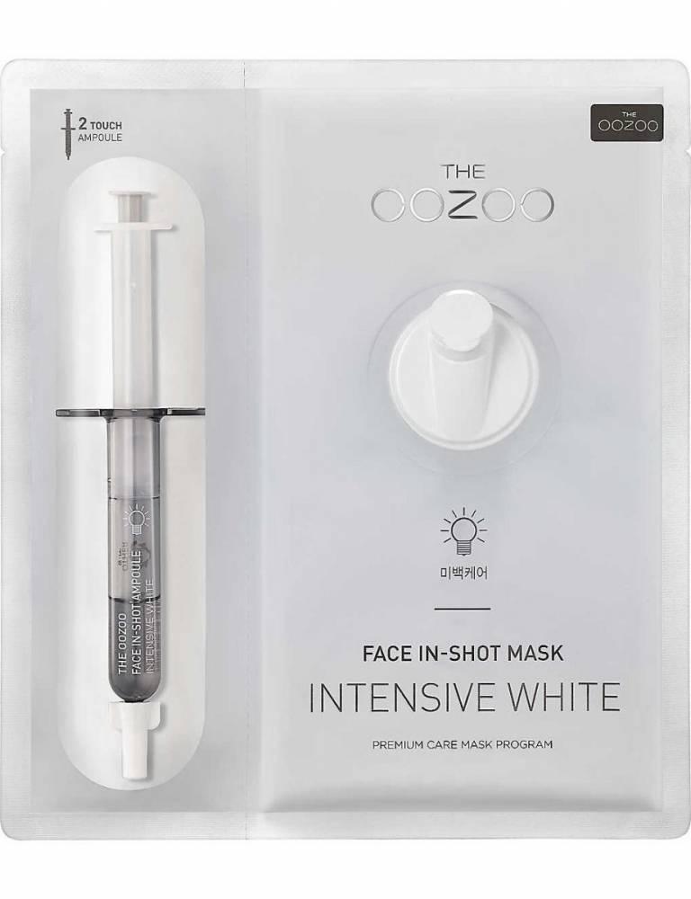 Маска осветляющая с ниацинамидом The Oozoo Face In-Shot Mask Intensive White  27ml