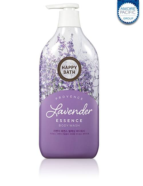 Гель-эссенция для душа с экстрактом лаванды Happy Bath Lavender Essence Relaxing Body Wash 1100ml