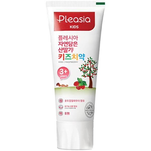 Детская зубная паста со вкусом малины Pleasia Kids Toothpaste Raspberry 80ml