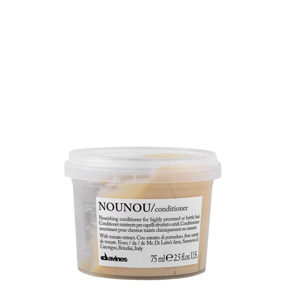 Питательный кондиционер для уплотнения ломких и поврежденных волос Davines Nourishing Nounou Conditioner 75ml