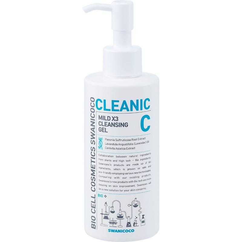 Гель Для Умывания Успокаивающий С Экстрактом Центеллы Swanicoco Mild X3 Cleansing Gel 200ml