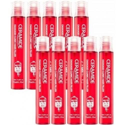 Филлер Для Восстановления Волос С Керамидами FarmStay Ceramide Damage Clinic Hair Filler 13ml
