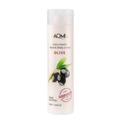 Лосьон для рук и тела увлажняющий с маслом оливы Aomi Extra gentle Hand & Body Lotion - Olive 250 ml