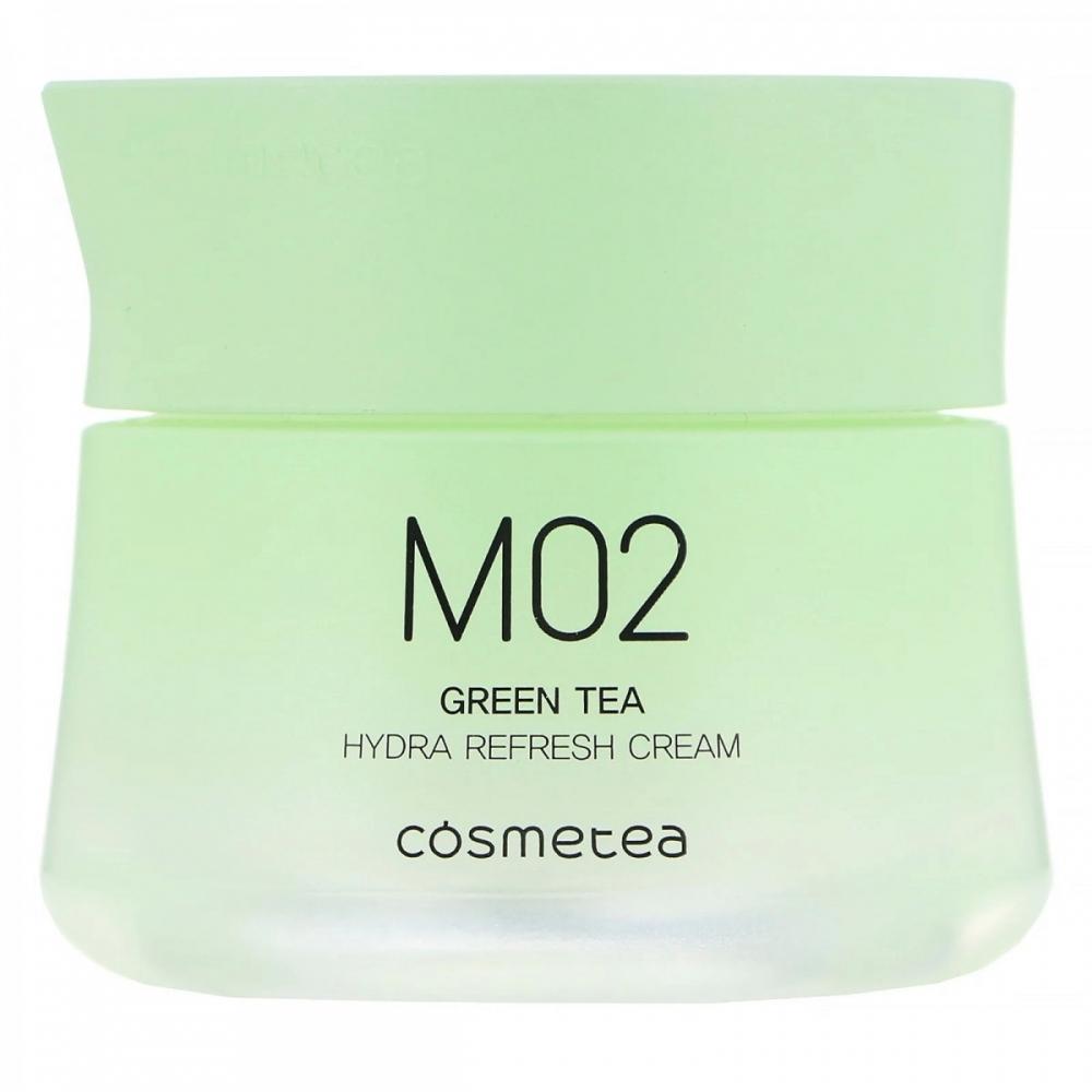 Крем для лица с экстрактом зеленого чая с освежающим эффектом Green Tea, Hydra Refresh Cream Cosmetea 10ml