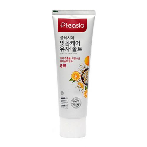 Зубная паста оздоравливающая с мандарином и солью Pleasia Yuzu Salt Toothpaste  100 ml