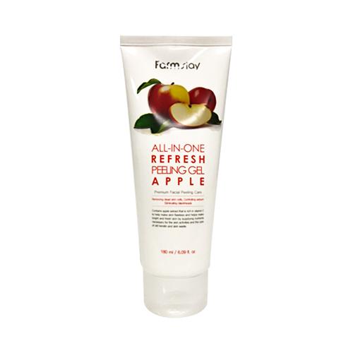 Пилинг-скатка осветляющая с экстрактом яблока FarmStay All-In-One Whitening  (Refresh) Peeling Gel Cream Apple 180ml