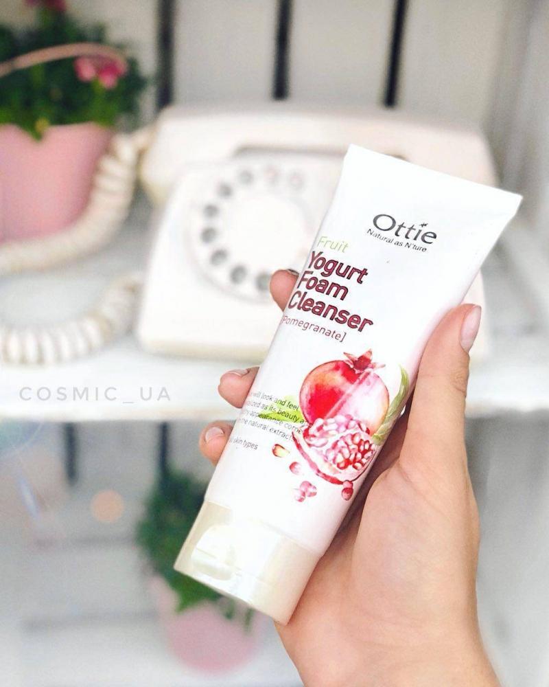 Пенка Очищающая Тонизирующая С Экстрактом Граната Ottie Fruits Yogurt Foam Cleanser [Pomegranate]