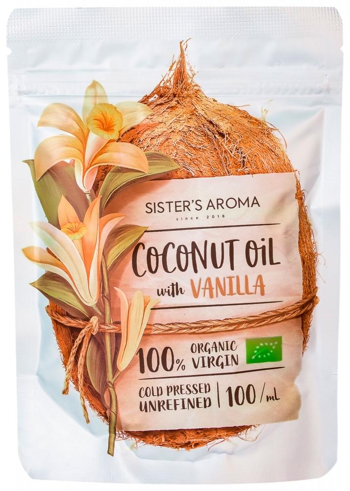 Кокосовое масло для волос и тела с эфирным маслом ванили Sister's Aroma With Vanilla 100ml