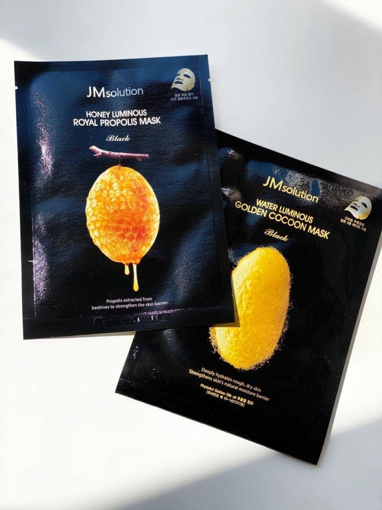 Набор из двух восстанавливающих масок с прополисом и протеинами шелка Jm solution 60 ml