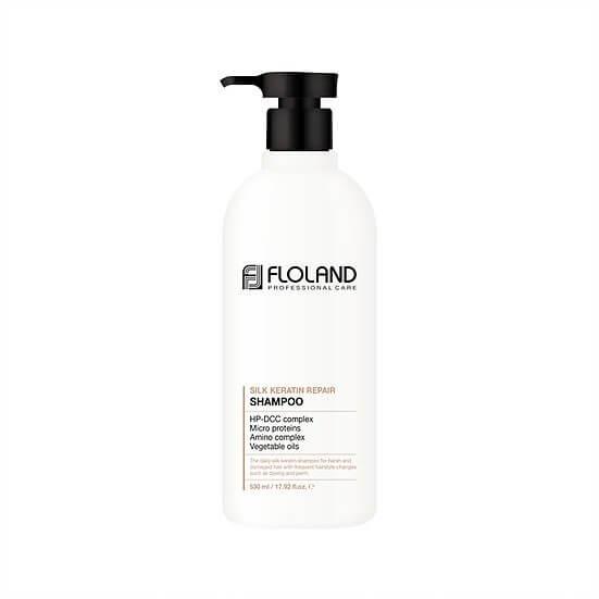 Шампунь восстанавливающий с кератином  Floland Premium Silk Keratin Shampoo