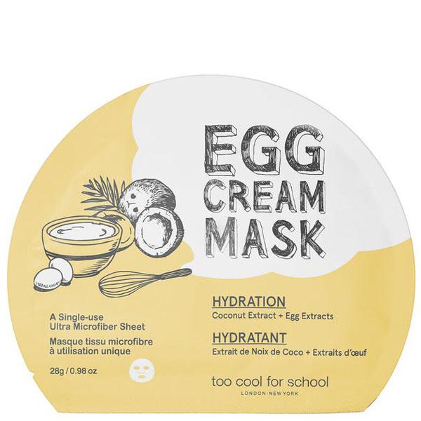 Маска тканевая для лица с эффектом глубокого увлажнения и яичным экстрактом Too Cool For School Egg Cream Mask Hydration 28g