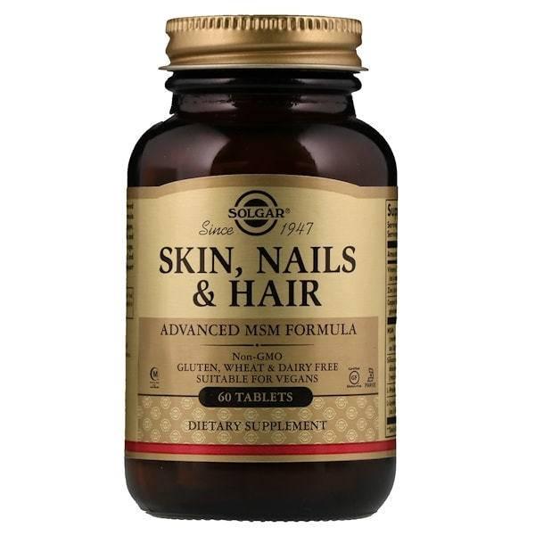 Пищевая Добавка Премиум Класса Для Красоты Волос Кожи И Ногтей Solgar Skin, Nails & Hair 60 таблеток