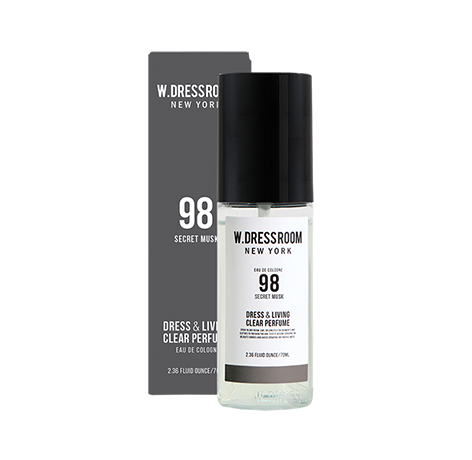 Парфюмированная вода для одежды с мускусным ароматом W.Dressroom Dress & Living Clear Perfume No.98 Secret Musk 70ml