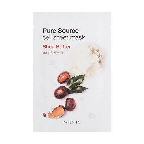 Маска тканевая с маслом ши Missha Pure Source Cell Sheet Mask Shea Butter 21g
