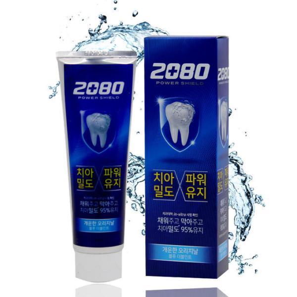 Зубная паста укрепляющая с экстрактом мяты 2080  Power Shield Blue Double Mint 120ml