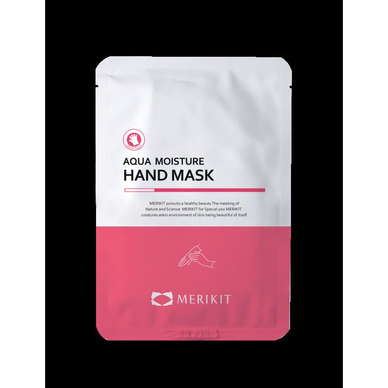 Маска-перчатки для рук увлажняющая с маслом ши Merikit Aqua Moisture Hand Mask 16ml