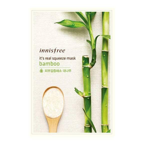Тканевая Маска С Экстрактом Бамбука Innisfree It's Real Squeeze Mask Bamboo 20ml