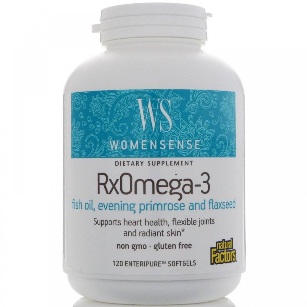 Пищевая Добавка Омега 3 Natural Factors WomenSense  RxOmega-3 120 капсул