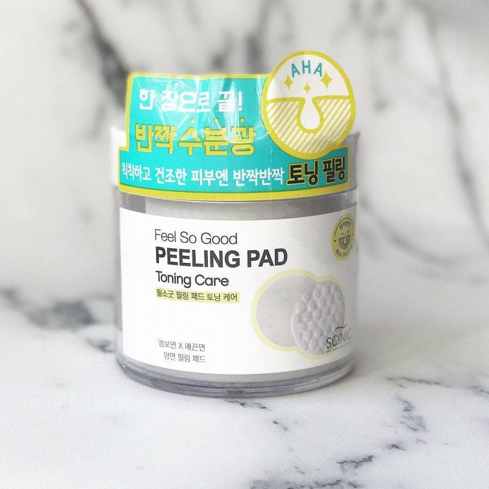 Пилинг диск для очищения лица с АНА кислотами Scinic Feel So Good Peeling Pad [Pore Care] 70шт