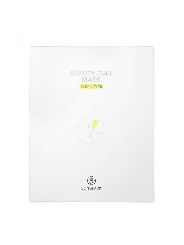 Маска Тканевая Очищающая С Экстрактом Центеллы Son & Park Beauty Full Mask Clean 25 ml