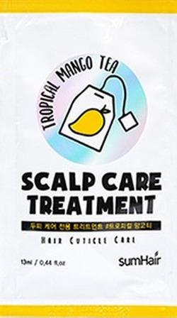 Бальзам для волос успокаивающий с экстрактом манго SUMHAIR Scalp Care Treatment #Tropical Mango Tea