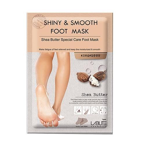 Маска - Носочки Смягчающая Питательная Labute Shiny & Smooth Foot Mask 16g