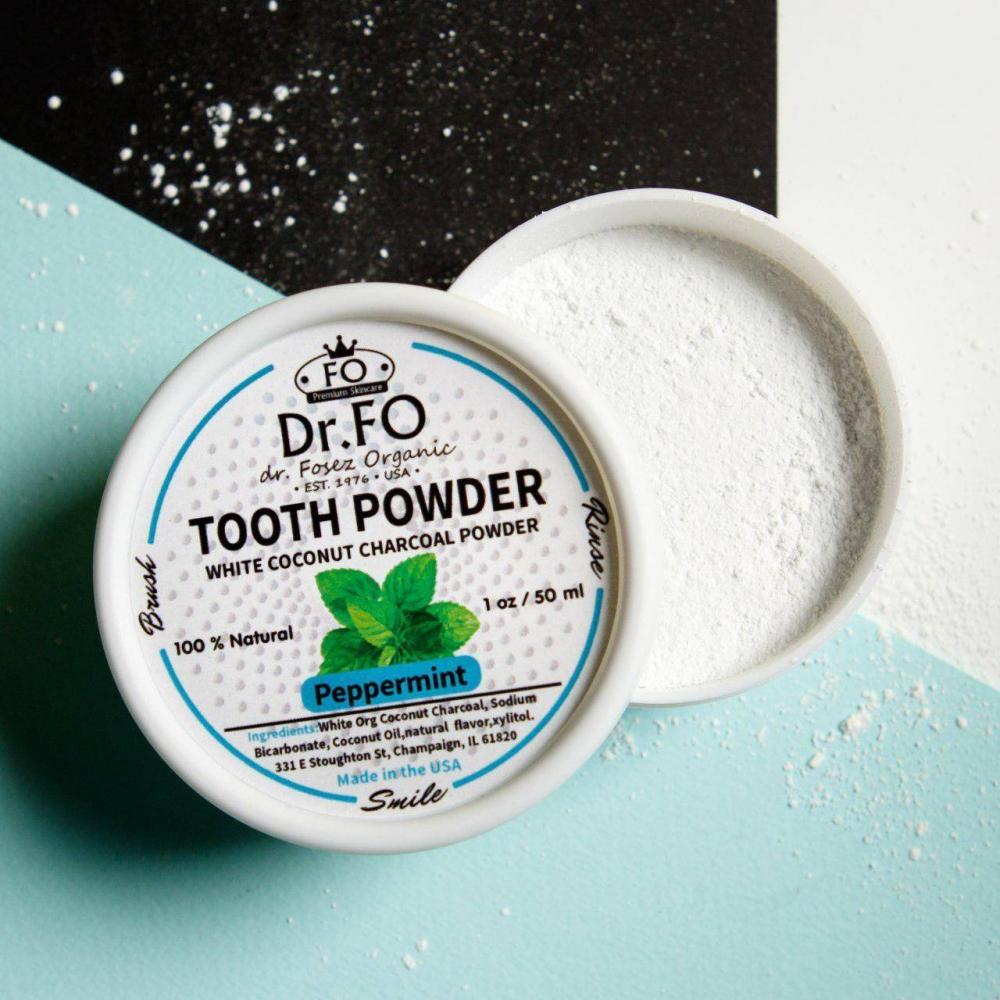 Порошок Для Зубов Отбеливающий С Кокосовым Углем Teeth Whitening Active Coconut Charcoal Powder Dr. Fosez