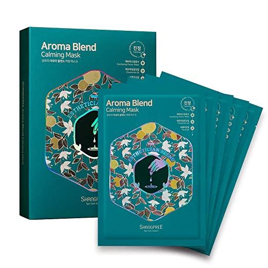 Маска тканевая успокаивающая с маслом нероли AROMA BLEND CALMING MASK SHANGPREE 30ml