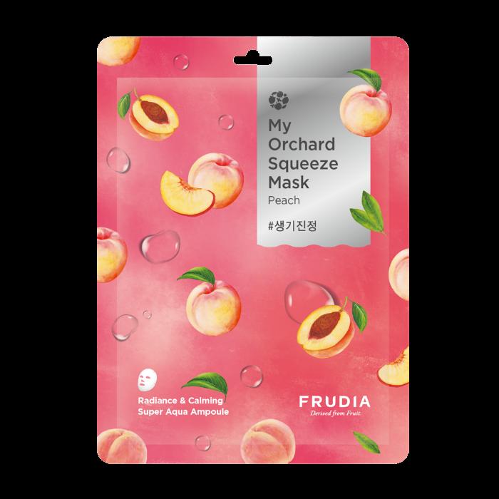 Маска тканевая антивозрастная для лица с персиковым экстрактом My Orchard Squeeze Mask Peach Frudia 20 ml