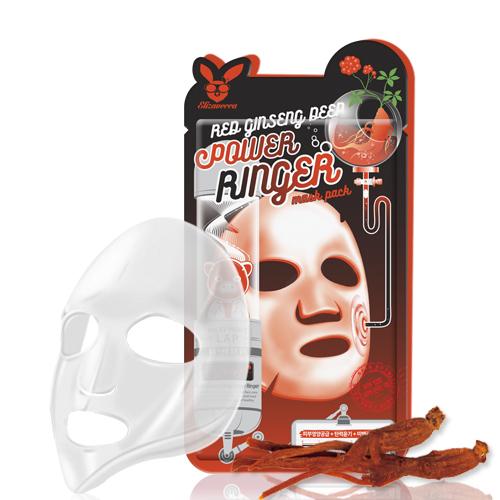 Маска омолаживающая с женьшенем Elizavecca Face Care Red Ginseng Deep Power Ringer Mask Pack 23ml
