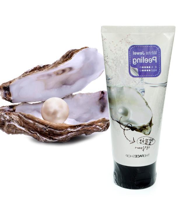 Пилинг- Скатка С Жемчужным Порошком The Face Shop White Jewel Smart Peeling