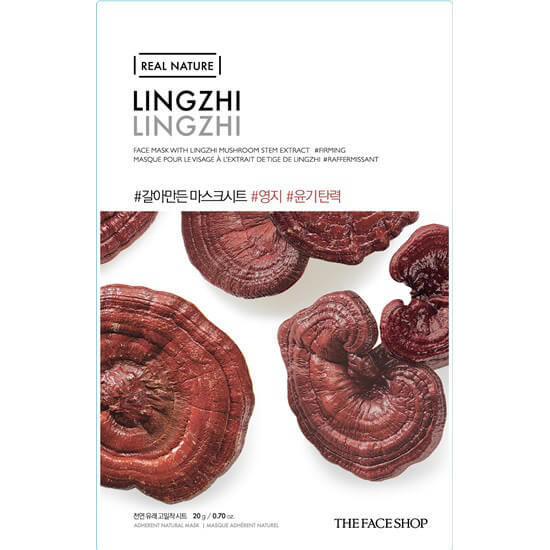 Омолаживающая тканевая маска с экстрактом линчжи The Face Shop Real Nature Face Mask Lingzhi 20g
