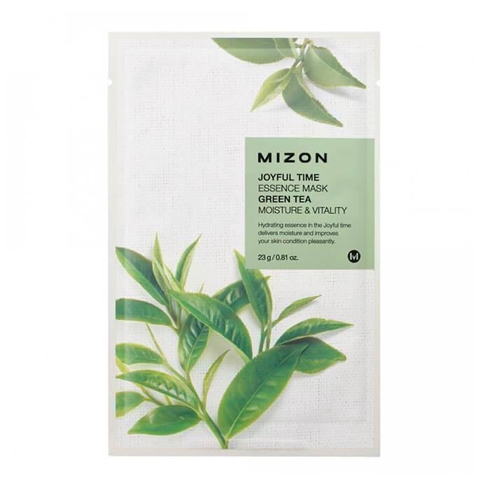 Маска Тонизирующая С Экстрактом Зеленого Чая Mizon Joyful Time Essence Mask  Green Tea