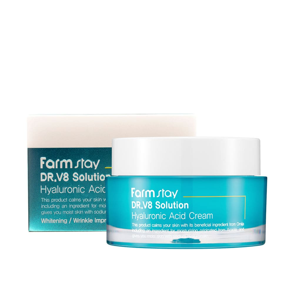 Увлажняющий крем для лица с гиалуроновой кислотой FARMSTAY DR-V8 SOLUTION CREAM HYALURONATE 50ml