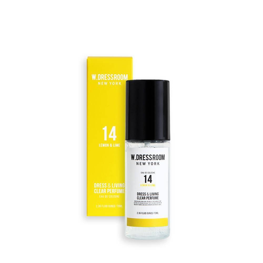 Парфюмированная вода для одежды и дома с ароматом лимона и лайма W.Dressroom Dress & Living Clear Perfume No.14 Lemon & Lime 70ml